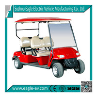 6 seater electric club cart 4x4 golf cart electric motor vehicle CE approved four wheel with long roof EG2049K