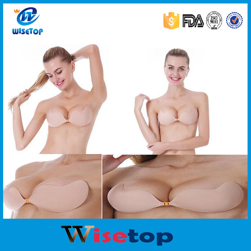 Summer Style Sexy Silicone Adhesive Stick On Strapless Push Up Br Push Up Strapless Invisible Bras
