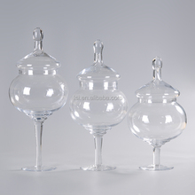 Hand made high glass storgage jar set of 3