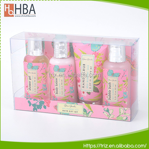 Wholesale skin care products bubble spa body and bath gift set for women