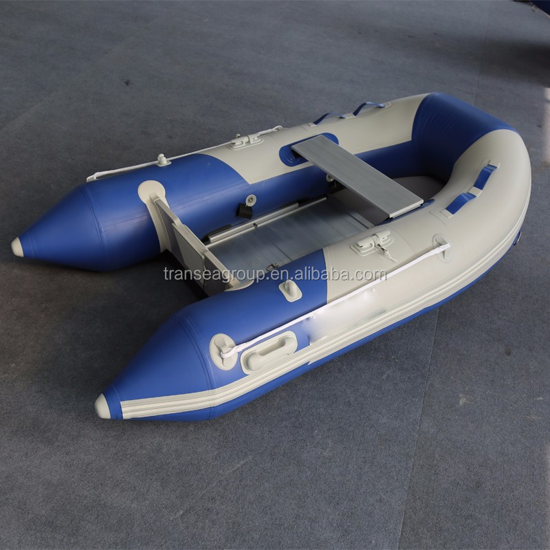 PVC material hull flat bottom inflatable boat for sale