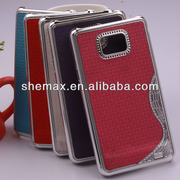 Luxury S Crystal Chrome Hard Case Cover For Samsung Galaxy S2 i9100