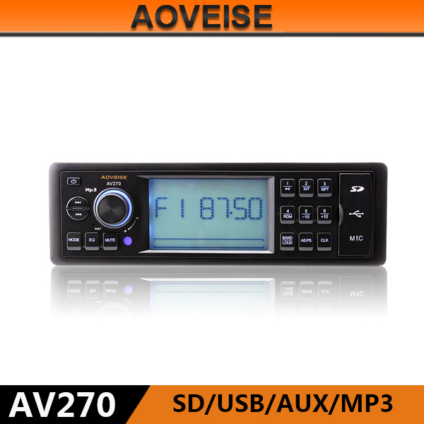 AOVEISE AV270 microphone jack digital stereo audio car usb mp3 player car mp3 usb sd.car audio without CD DVD Iran Russia market