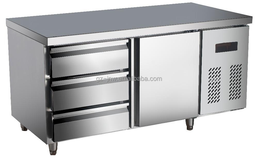 Restaurant Kitchen Refrigerator stainless steel under counter refrigerator with drawer