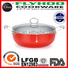 Aluminum material Enamel cookware with s/s handle