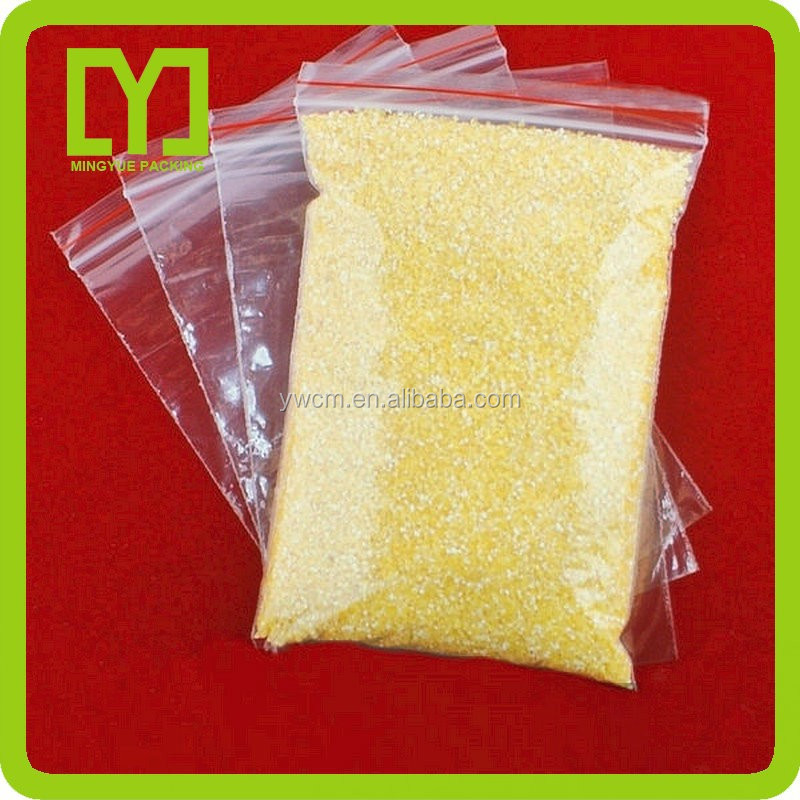 Customized sizes cheap high quality transparent color ziplock bags