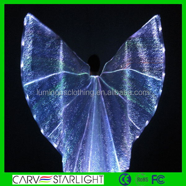 Luminous light up wholesale led isis wings belly dance costume wings