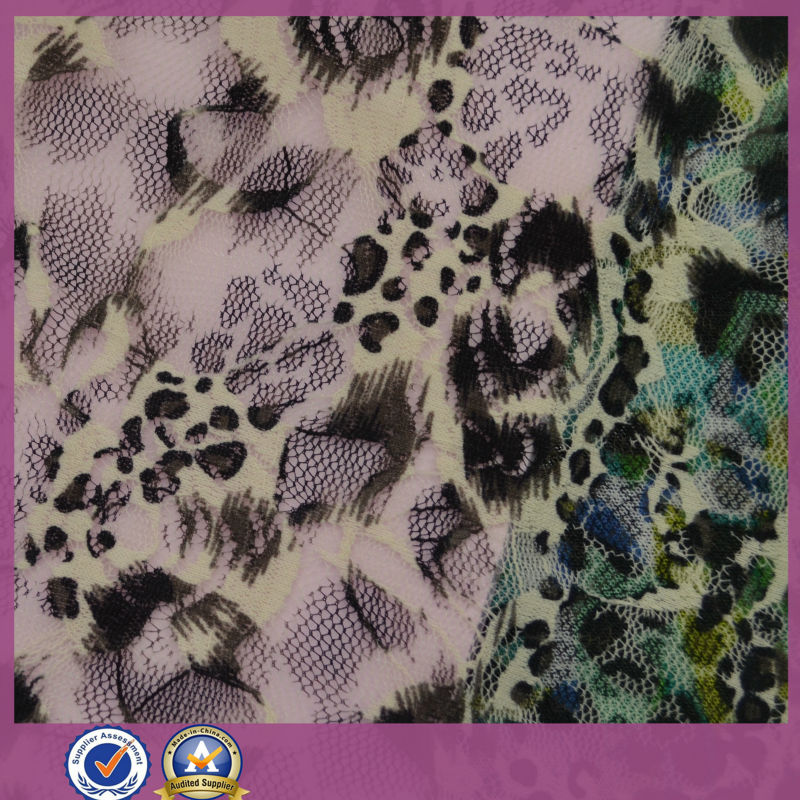 african animal flower design printing mesh fabric for sale