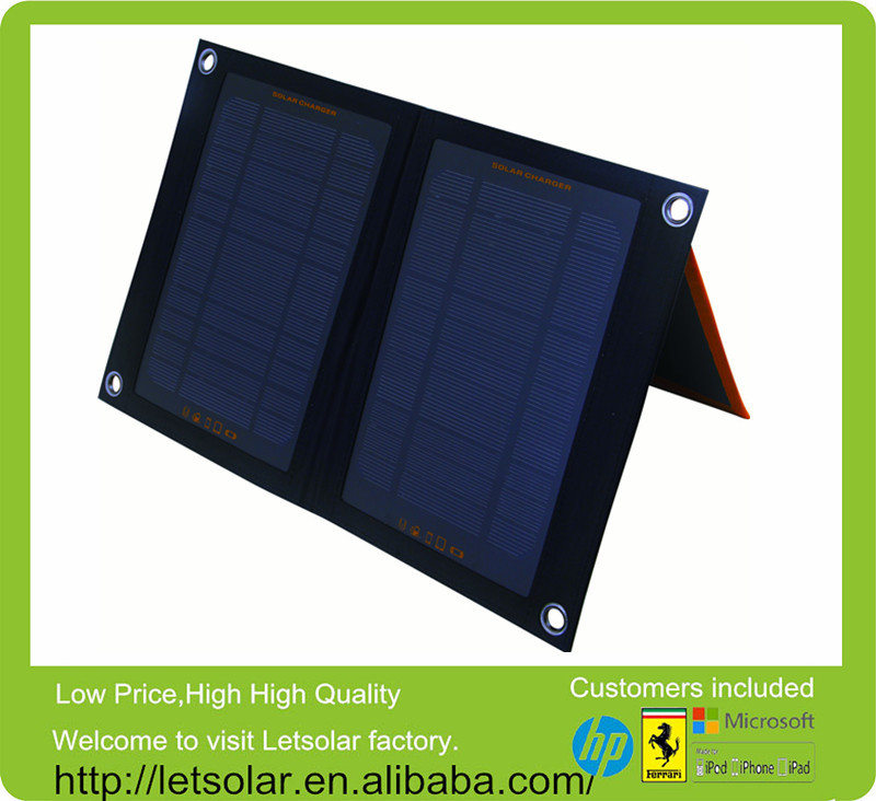 Foldable Solar Pack inverter with battery charger 220v 12v solar panel 7W Solar pack charger