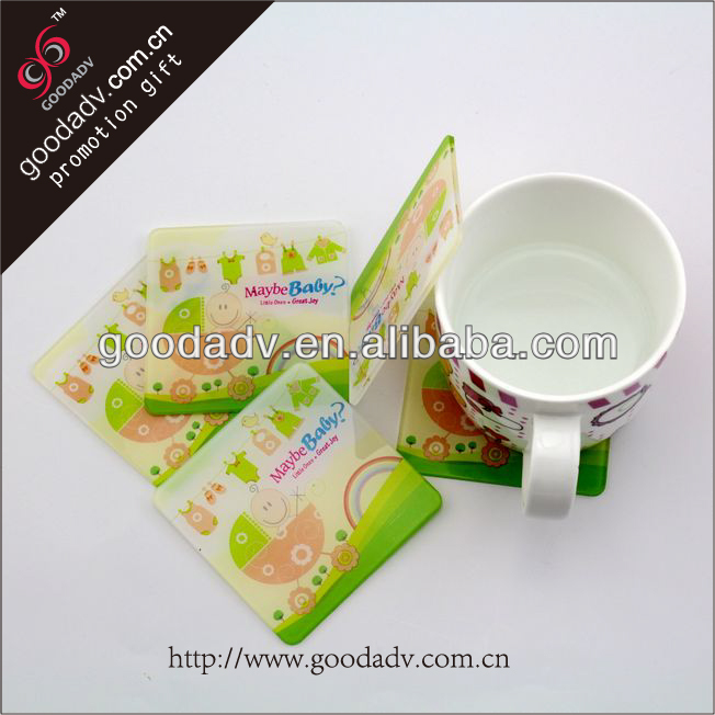 Wholesale custom photo drink coaster plastic clear acrylic coasters