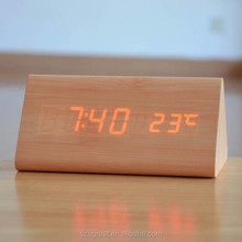 Triangle Clock desk digital clock,wooden clock