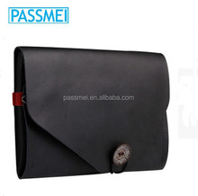 Mens envelope clutch bag, genuine leather case for ipad, real leather cover for tablet