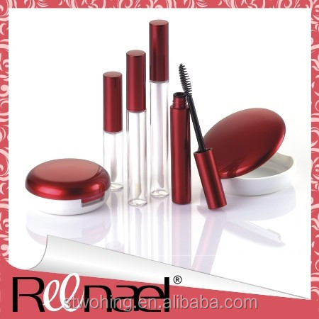 Cosmetic packaging complete line, lip gloss container, compact powder cases, make up boxes