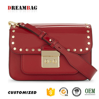 Guangzhou OEM large leather cross-body retro bag