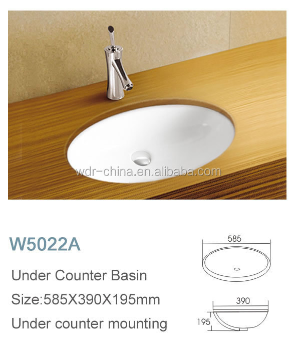 Wholesale chaozhou home ceramic under table bath basin