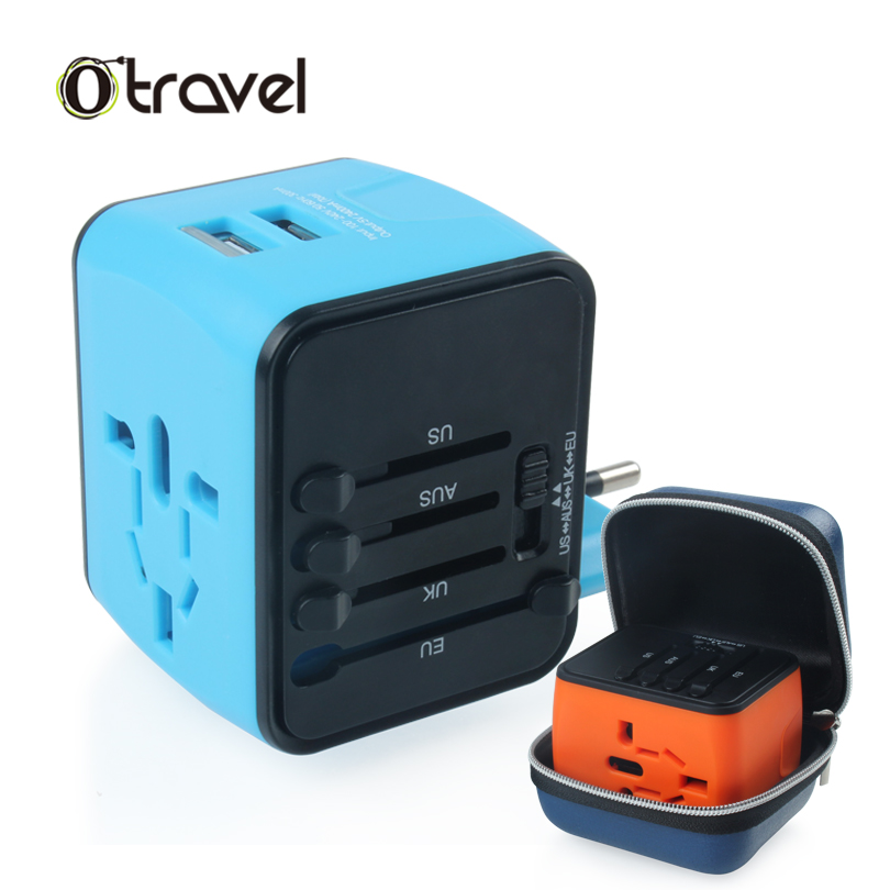 4 in 1 adapter travel Universal power adapter travel converter au eu uk adaptor plug with digital display usb travel adapter