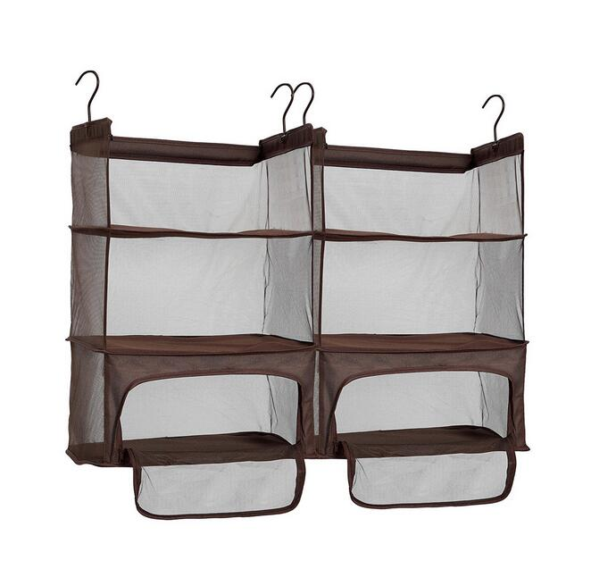 Storage Luggage Compression Shelves, Portable Hanging Shelves with Zippered