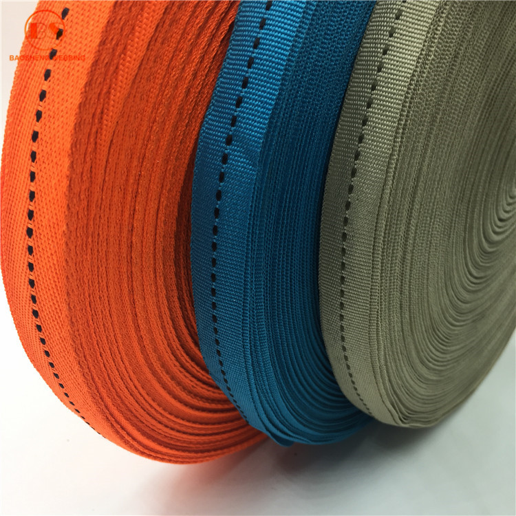 High Tenacity Polyester Cotton Webbing Belt For Lawn Chairs