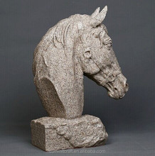 Hot sale imitation rock sand stone resin horse head sculpture