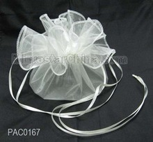 Circle organza bag with wire on border