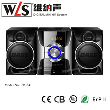 Mini Hi Fi micro DVD system support FM radio USB SD card and mobile phone port