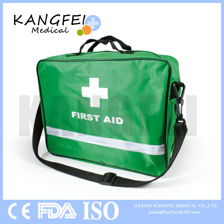 2017 New Arrival KF63 Nylon Fabric travel 87 pieces first aid bag sports first aid kit