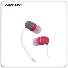 Fashion wholesale headsets Colored wired stereo earphone Plastic ear buds with microphone