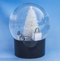 2014 new type white world london snow globe with glowing