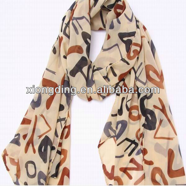 New design wholesale chiffon scarf and manufacture