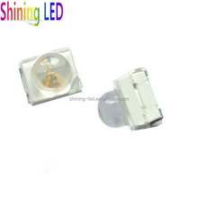 0.18W 50mA PLCC-4, 60 degree view angle 3527 SMD LED 3528 with lens Yellow Amber 590nm 595nm