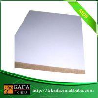 2.4 mm MDF with e1/e2/e0 glue,Two side melamine facing of Linyi Kaifa