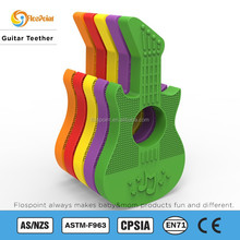 Funny Silicone Guitar Shape Baby Teether