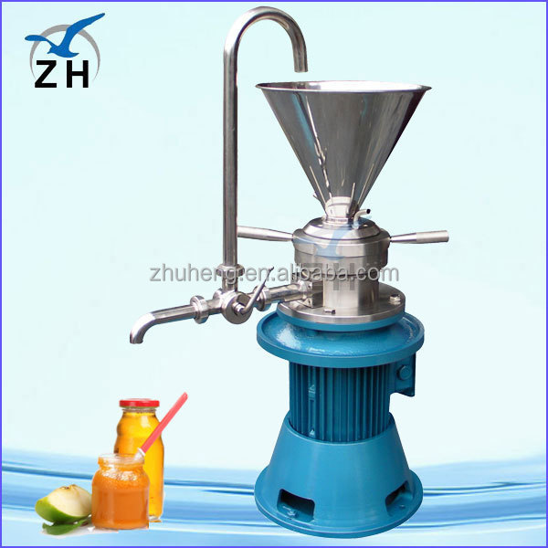 colloid mill for peanut butter/sesame paste/hot pepper sauce longlife automatic peanut butter making machine