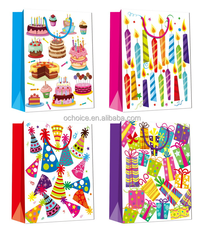 raw materials of cartoon kids gift bag paper bag