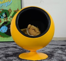 lovely classical design pet house furniture swivel fiberglass ball chair for dogs