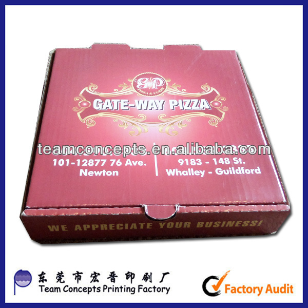 offset printing FSC Factory Customized Carton Pizza Boxes