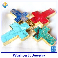 2015 new products curved cross crystal rhinestones hanging custom made crystal cross