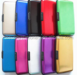 wholesale Aluminium credit card holder wallet case purse metal business card wallets