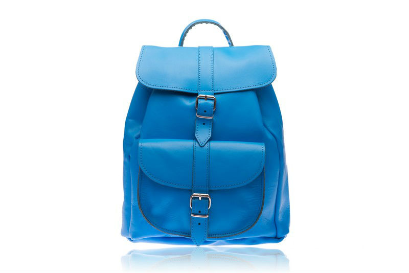 Anytime leather rucksack (blue)