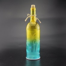 Vary color glass bottle lights with star shaped lights inside glass bottle led lights