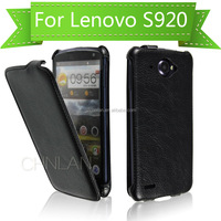High Quality Flip up and down High End Wallet Flip Leather Case for Lenovo S920