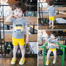 S33328W New Summer style children boys clothing sets cotton Vest+shorts kids clothes tracksuits