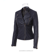 JOYOO RUMISU Synthetic Pu Women Leather Jacket For Autumn Winter