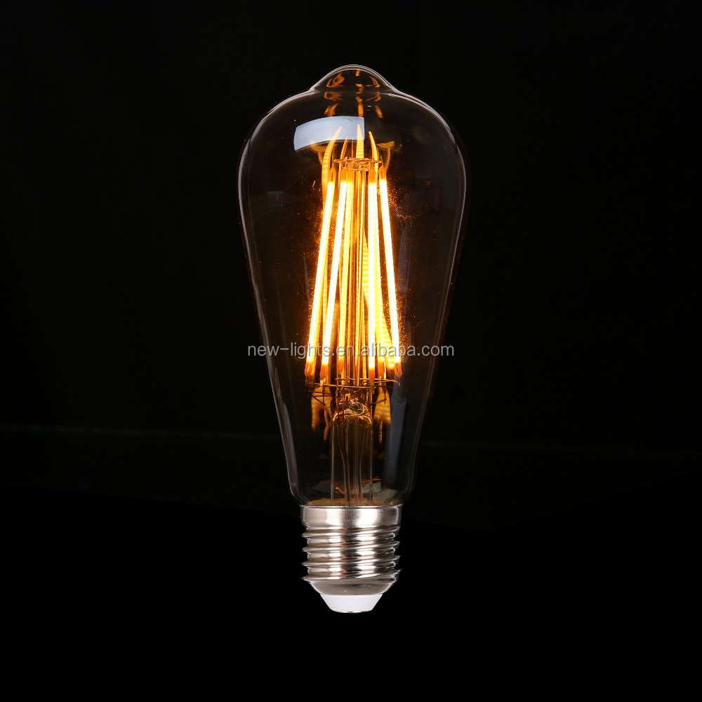 Vintage LED Edison ST64 LED FILAMENT <strong>BULB</strong> for decoration