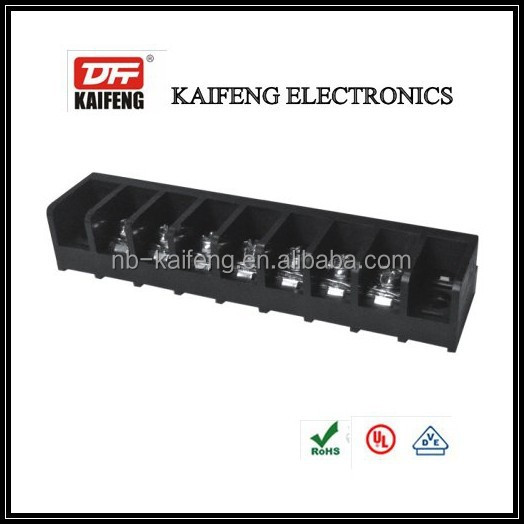 black connector barrier terminal block with 3 pole led terminal blocks