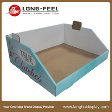 Long Feel Dog food cardboard display or Promotion cardboard pet accessories display for pet stores, cardboard display stand food