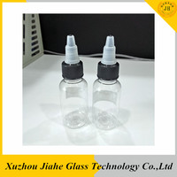 Screen Printing Surface Handling and Plastic Material 30ml PET clear e liquid pipette bottle
