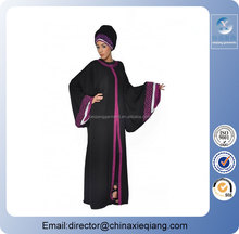 Women black dubai kaftan/kaftan dress/kaftan abaya burqa fashion design