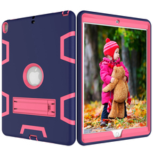 "For iPad Pro 10.5"" Case High Impact Resistant Hybird 3 in 1 Heavy Duty TPU+PC Defender 360 Full Body Protector"