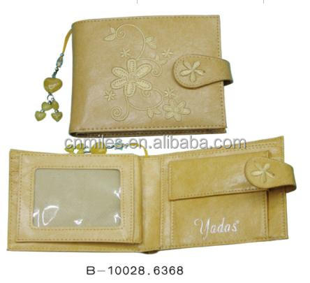 Embroider child wallet with cute pendant
